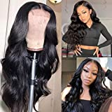 SUPERLOOK Human Hair Lace Front Wigs 4x4 Body Wave Lace Front Wigs With Baby Hair Pre Plucked Human Hair Body Wave Wigs For Black Women Natural Color