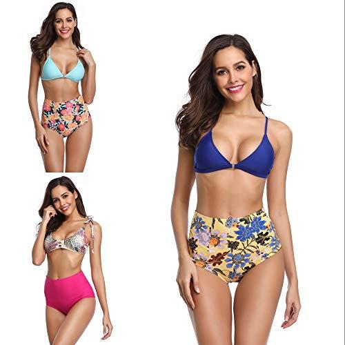 Dames Sexy Bikini Badmode, Push-Up Gewatteerde Sexy Bikini Beha Zonder Rug, Dames Zomer Strandmode Strandkleding