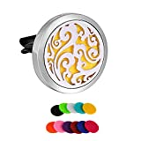 HooAMI Sky Clouds Car Air Freshener Aromatherapy Essential Oil Diffuser - 316L Stainless Steel Locket with Vent Clip