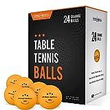 Pro Spin pelotas de ping pong – Premium naranja 40 + pelotas de entrenamiento para interior y exterior Tenis de mesa (Pack de 24)