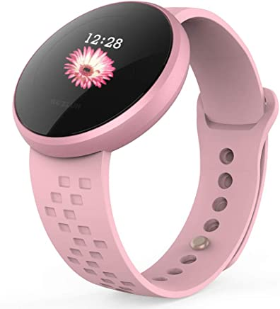 Women Smart Watch Fitness Tracker, Heart Rate Monitor Watch with Color Screen, IP68 Waterproof Auto Wake Screen Smartwatches for iPhone Android
