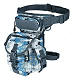 Military Tactical Drop Leg Bag Tool Fanny Thigh Pack Leg Rig Utility Pouch Paintball Airsoft Motorcycle Riding Thermite Versipack, Marine Digital