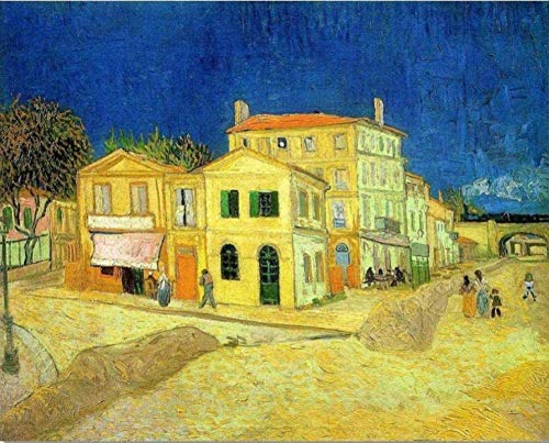 ezchamm 1000 Pieces Wooden Jigsaw Puzzle for Adult & Kids – The Yellow House by Vincent Van Gogh