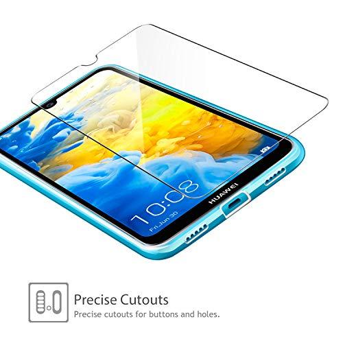 Leathlux Huawei Y5 2019 Hülle + [2 Pack] Panzerglas, Huawei Y5 2019 Durchsichtig Case Transparent Silikon TPU Schutzhülle Premium 9H Gehärtetes Glas für Huawei Y5 2019 - 5