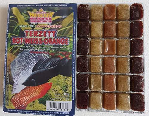 Fischfutter Frostfutter 5X 100g Blister Terzett für Abwechslung im Aquarium
