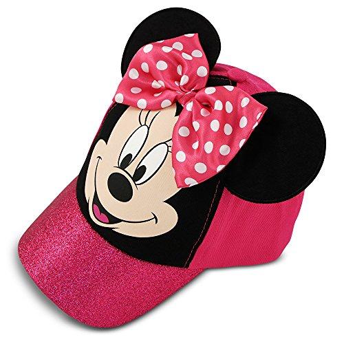 Disney Little Girls Minnie Mouse gorra de béisbol de algodón con lazo de lunares rosa y orejas, edad…