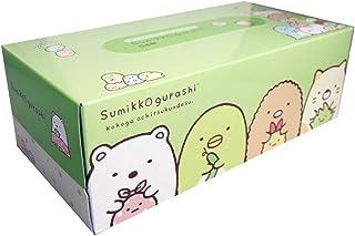 【5個】すみっコぐらし ふわっとグリーンティシュ BOX 300枚(150組)