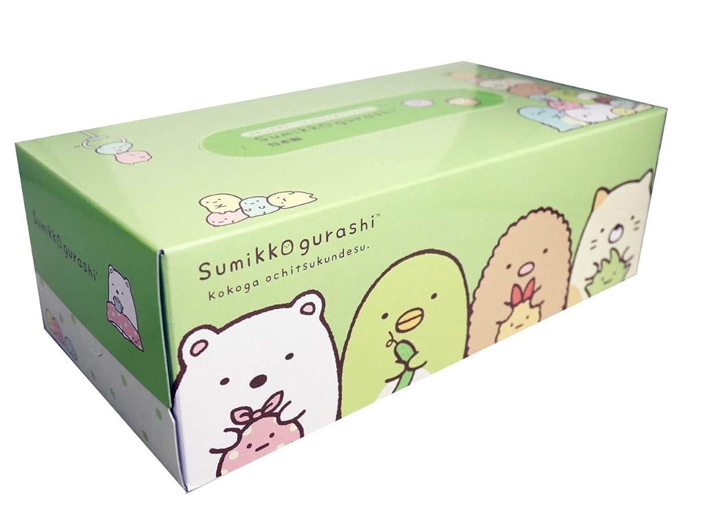 ベックスモッキンバード感染する【5個】すみっコぐらし ふわっとグリーンティシュ BOX 300枚(150組)