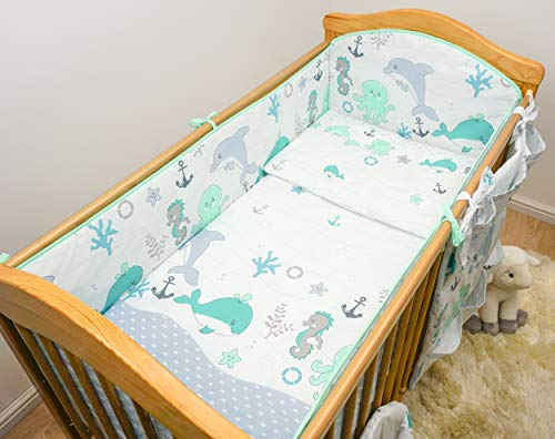 Baby Comfort Cot Bedding All-Round Bumper for 140x70 cm Cot Bed (13)