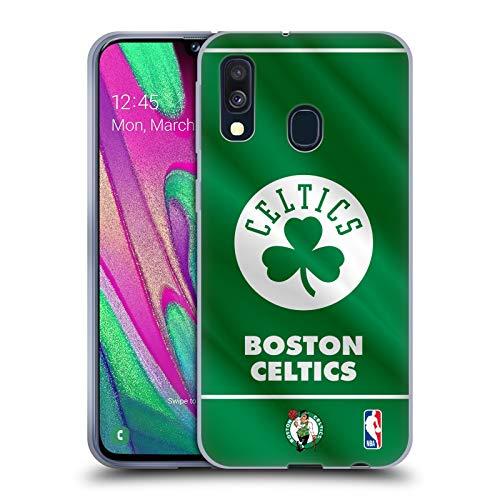Head Case Designs Oficial NBA Estandarte 2019/20 Boston Celtics Carcasa de Gel de Silicona Compatible con Samsung Galaxy A40 (2019)