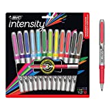 BIC Intensity Fashion Permanent Markers, Ultra Fine Point, Assorted Colors, 12-Count (packaging…