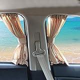 HNIWDJ 2pcs/Set Aluminum Alloy Elastic Car Side Window Sunshade Curtains Auto Windows Curtain Sun Visor Blinds Cover car-Styling (Color : Black)