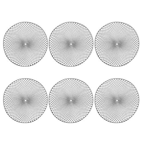 Zeller Platzset 'Mandala', 6er Set, PVC, Silber ca. Ø 38 cm