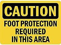 注意足の保護が必要ですブリキの看板壁の装飾金属ポスターレトロなプラーク警告看板オフィスカフェクラブバーの工芸品