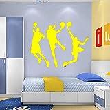 Deportes Etiqueta de la pared Baloncesto Jugador Etiqueta de papel tapiz de inicio deco Color-6 56x71cm