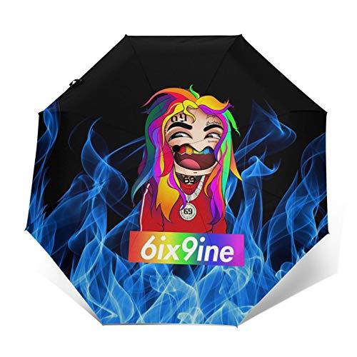 Folding Umbrellas Tekashi 6ix9ine Stoopid Fashion Printing Lightweight Waterproof Sunscreen Windproof Durable Folding Umbrellas Travel Umbrella