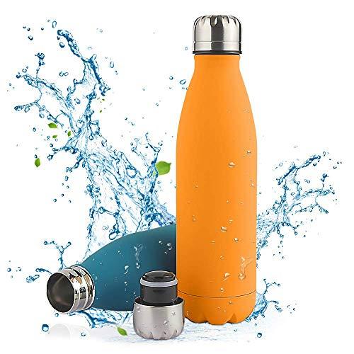 Nasharia Bouteille d'eau en Acier Inoxydable - Double Paroi Gourde sans BPA, 750ml / 500ml Bouteille Isotherme pour Sport, Camping, Randonnée, Voyage, Voiture, École, Bureau etc.