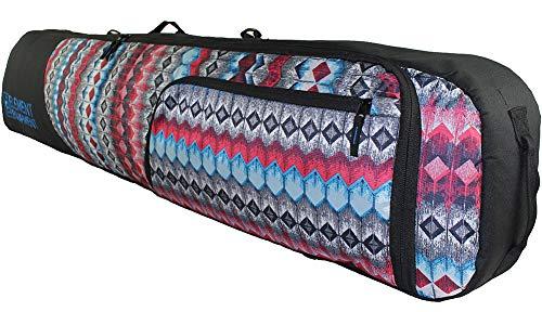 Element Equipment Deluxe Padded Snowboard Bag - Premium High End Travel Bag 165 Aztec