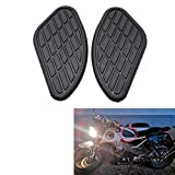 Evomosa Motorcycle Gas Petrol Tank Knee Pads 2 Pcs Universal Fuel Oil Gas Tank Pad Protector for Retro Motorcycle