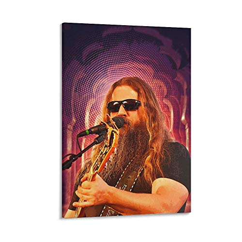 Jam-ey Joh-nson Guitar Rock Canvas Art Poster and Wall Art Picture Print Modern Family Bedroom Decor Posters 8×12inchs(20×30cm)