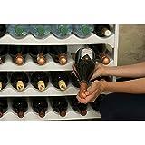 Grizzly Flaschenregal modular stapelbar - Weinregal für 72 Flaschen Regal-System weiß - 5