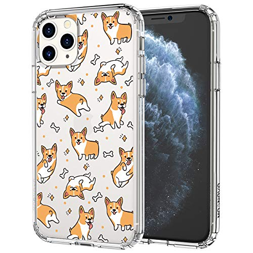 MOSNOVO Cute Corgi Pattern Designed for iPhone 11 Pro Max Case,Clear Case with Design,TPU Bumper with Protective Hard Case Cover