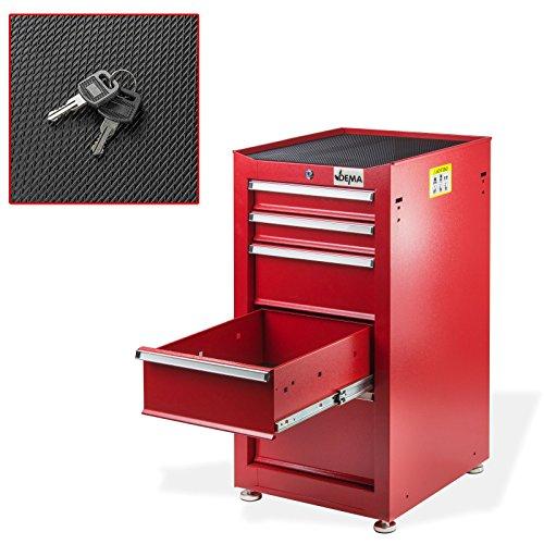 Schubladenschrank Nico 5 Schubladen rot Werkzeugschrank Werkstattschrank