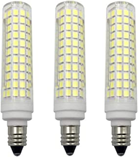 JKLcom E11 LED Bulbs Dimmable 15W(Equivalent to 150w Halogen Bulbs Replacement)110V Cool White 6000K LED Corn Light Bulbs JD T4 E11 Mini Candelabra Base,Dimmable,136 LED 2835 SMD,3 Pack