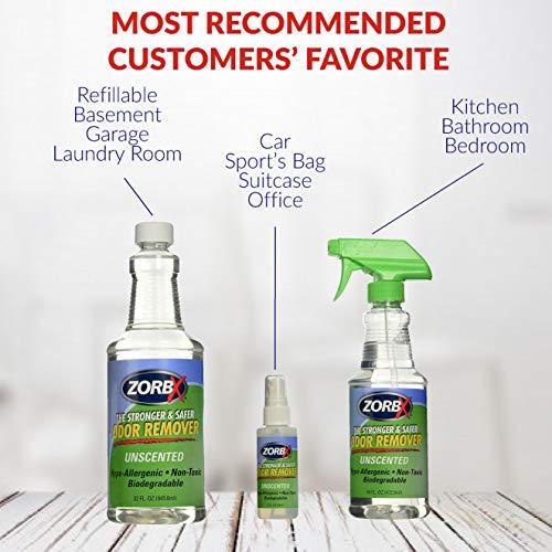 ZORBX Unscented Multipurpose Odor Remover Safe for All, Carpet , Hardwood , Tile , Fabric Odor Eliminator, No Perfumes or Fragrances, Stronger and Safer Odor Remover Works Instantly (Value Pack)