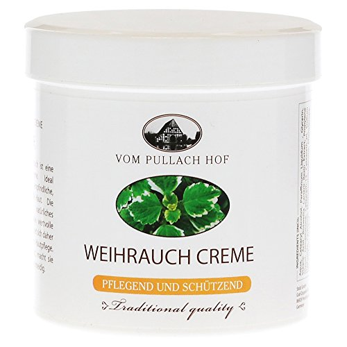 Crème d'encens traditionnelle Pullach Hof - 250 ml - Contient de l'huile d'encens naturelle - Pour peaux sensibles, sèches et matures - 1