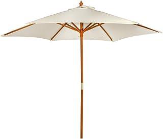 AKTIVE Garden 53860 parasoll sexkantigt, diameter 270 cm, mastträ