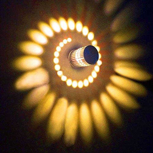 Design 3W LED Wandleuchte Wandlampe Wandstahler Effektlampe Badlampe Flurlampe warmweiß kaltweiß für Wohnzimmer Schlafzimmer Flur Arbeitszimmer (warmweiß)