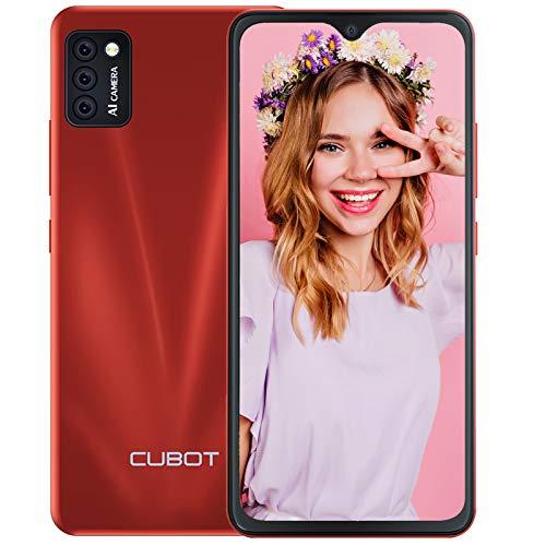 CUBOT Note 7 Android Smartphone ohne Vertrag, 3 Kameras, 5,5 Zoll Display, 16 GB/2 GB RAM, Dual SIM, 4G Handy in Rot, deutsche Version