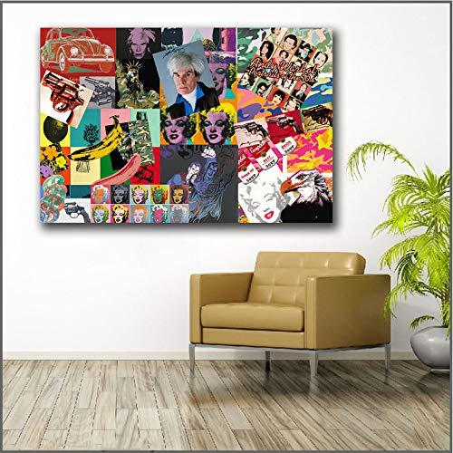 Impresión Grande Andy Warhol-Portafolio De Obras De Arte Arte De La Pared Imagen Decoración para El Hogar Sala De Estar Moderna Impresión En Lienzo Pinturas B25 40X50Cm Sin Marco
