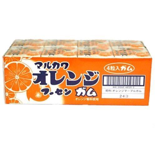 丸川製菓 オレンジマーブルガム 4粒×24個