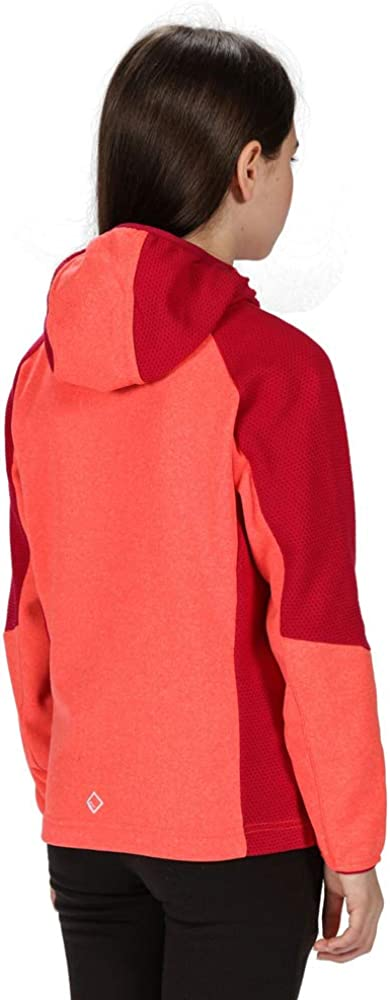 Unisex ni/ños Regatta Lostock Coolweave Jacket With Extol Warm Backed Knitted Stretch Fabric Forro polar