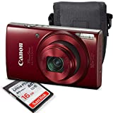 Canon PowerShot ELPH 190 IS Digital Camera (Red) with 10x Optical Zoom