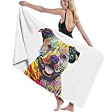 Ewtretr Toalla de Playa Bath Towel Dog Bath Towels Super Absorbent Beach Bathroom Towels for Gym Beach SWM SPA Hotel Home Ideas Decoration