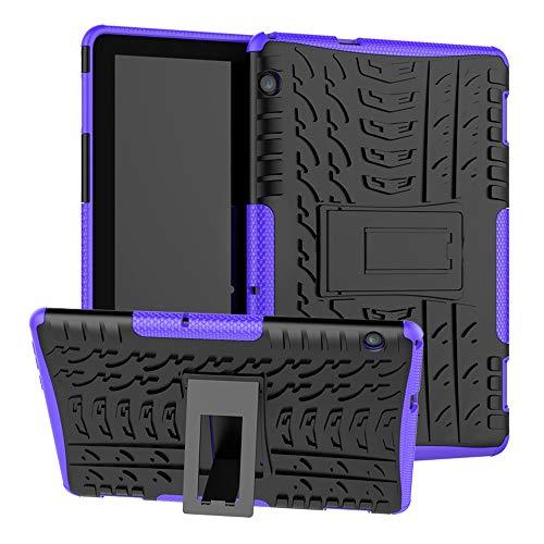 Labanema Huawei MediaPad T5 10 Funda, [Heavy Duty] [Doble Capa] [Protección Pesada] Híbrida Resistente Funda Protectora y Robusta para Huawei MediaPad T5 10 10.1 Pulgadas 2018 Tablet - Morado