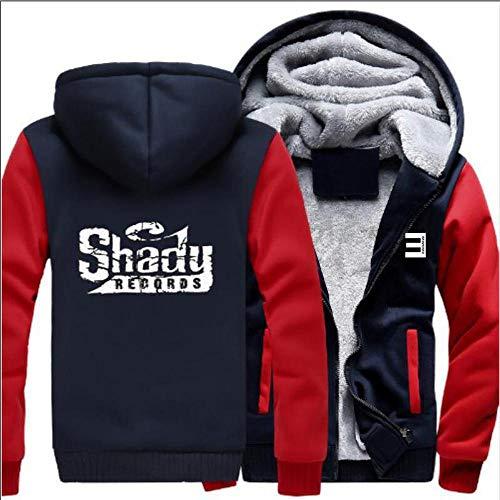 THICKEN Hoodie Eminem Plus Velvet Padded Cardigan Jacke Winter-Warmer Unisex Sport Tops D-S
