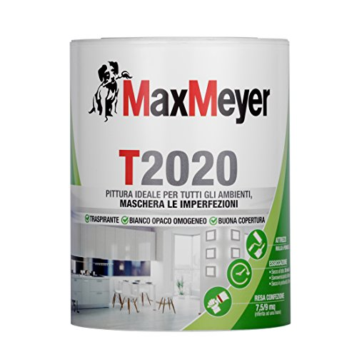 MaxMeyer Pittura per interni Traspirante T2020 BIANCO 0,75 L