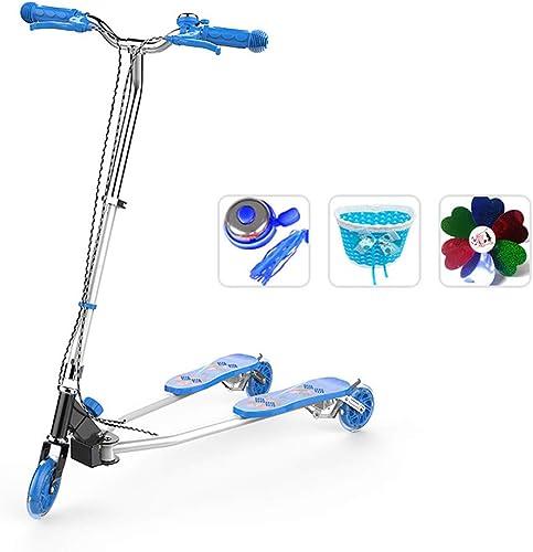 GlissièRe de Voiture de Ciseaux Scooter de Grünouille, Fille,BéBé, Poussette,Größe Ajustable,Flash Wheel,4 à 12 Ans BéBé,Blau