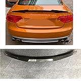 DIQON Spoiler Trasero, para Audi A5 S5 RS5 B8 2008 2009 2010 2011 Sportsport Coupe Wing Lip Spoilers M4 Accesorios para Automóviles Fibra De Carbono Spoiler
