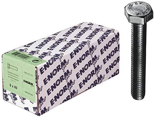 E-Normpro - Tornillos hexagonales con rosca hasta la cabeza de acero inoxidable din 933 m5x30 a2 hp