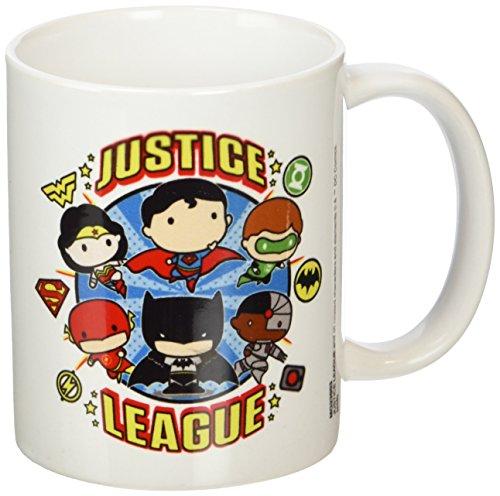JUSTICE LEAGUE Liga de la Justicia Chibi Taza de cerámica, Multicolor
