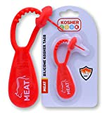 Meat Red Kosher Tag - Silicone Label Utensils, Kitchen Items - Heat Resistant and Dishwasher Safe - The Kosher Kook