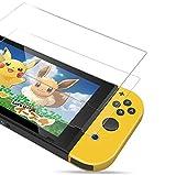 PORTHOLIC Protección de pantalla para Nintendo Switch [2 unidades] [Anti-estallido] [Ultra claro + anti-burbuja + anti-huella digital y resistente a los arañazos]
