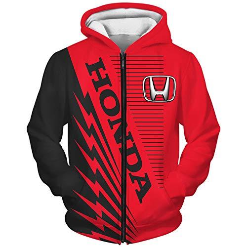 Hickeyy Capucha Chaqueta Hombre Y Mujer por H.O_Nd.A-S 3D Completo Impresión Cárdigan Delgado Casual Poliéster Sweatshirt Parte Superior/B / 4XL