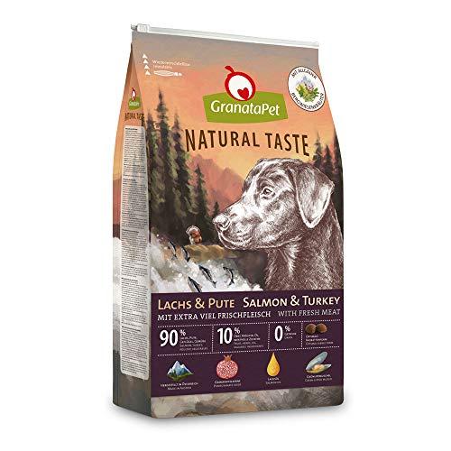GranataPet Natural Taste Lachs & Pute, Trockenfutter für Hunde, Hundefutter ohne Getreide & ohne Zuckerzusätze, Alleinfuttermittel für Hunde, 12 kg