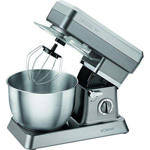 Bomann KM 398 Küchenmaschine, 1200 W, 6,2 Liter, Titan - Amazon Verkäufer. Angebote für Ihren Haushalt